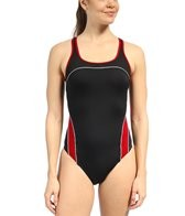 Speedo Mercury Spliced Drop Back Swimsuit
