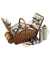 Picnic at Ascot Huntsman Picnic Basket For Four With Blanket & Coffee Service