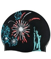 Sporti Fireworks Silicone Swim Cap
