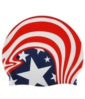 Sporti American Wave Silicone Swim Cap