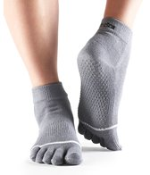 Toesox Ankle Length Full-Toe Grip Socks