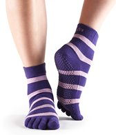 Toesox Ankle Length Full-Toe Grip Socks