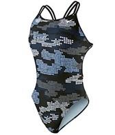 Nike Swim Tech Camo Spider Back Tank
