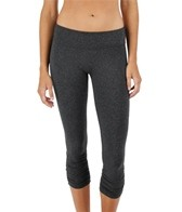 Beyond Yoga Women's Heather Gray Gathered Legging