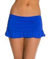 Skye So Soft Solid Swim Skirted Bikini Bottom