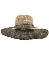 Sun N Sand Ombre Palms Two Tone Straw Hat