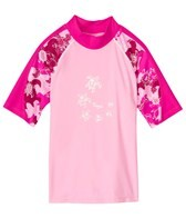 Tuga Girls' Off Shore Turtle Reef S/S Rash Guard (12mos-14yrs)