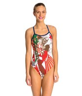 Hardcore Swim Women's Cali X-Back One Piece Swimsuit