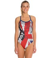 Hardcore Swim Women's God Save Chlorine X-Back One Piece Swimsuit