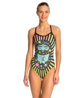Hardcore Swim Women's Buddha X-Back One Piece Swimsuit