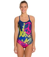 HARDCORESPORT Women's Peace Cali Back One Piece Swimsuit