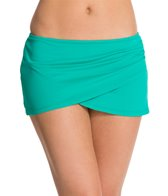 Anne Cole Color Blast Solids Sarong Swim Skirt