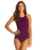 Penbrooke Krinkle Mastectomy High Neck Mio One Piece