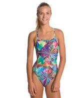 Sporti Polyester Prism Thin Strap Swimsuit