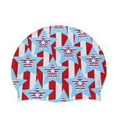 Sporti Stars and Stripes Silicone Swim Cap