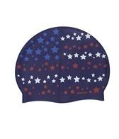 Sporti Starry Flag Silicone Swim Cap