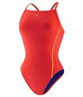 Speedo Solid Logo Flyback Swimsuit