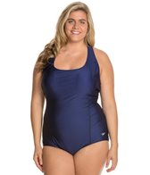 Speedo Conservative Ultraback Plus Size One Piece with Princess Seam