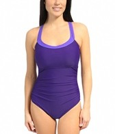 Speedo Shirred Racerback One Piece