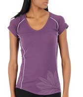 Icebreaker Women's Flash Running Short Sleeve V
