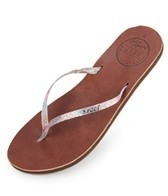 Reef Girls' Leather Uptown Luxe Sandals