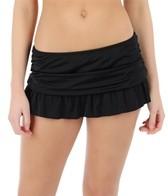 24th & Ocean Solid Ruffle Hem Swim Skirt