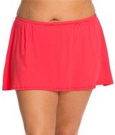 24th & Ocean Plus Size Solid Swim Skirt