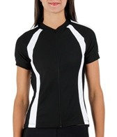 Sheila Moon Women's Waffle Short Sleeve Raglan Cycling Jersey