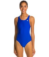 Adidas Solid V Back One Piece Swimsuit