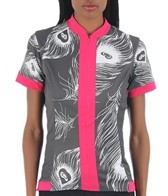 SheBeest Women's S-Cut Peacock Cycling Jersey