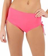 Beach House Solid Adjustable High-Waisted Side Tie Bikini Bottom