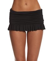 Beach House Solid Ruffled Swim Skirted Bikini Bottom