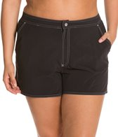 Beach House Plus Size Solid Board Short
