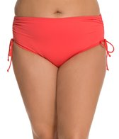 Beach House Plus Size Solid High Waisted Side Tie Bottom