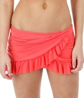 Kenneth Cole Reaction Ruffle-Licious Side Rouched Swim Skirt