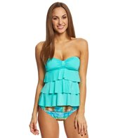 Kenneth Cole Reaction Ruffle-Licious Tiered Tubini Top