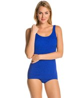 Penbrooke Krinkle Scoop Neck D Cup Sheath Mio One Piece