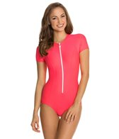 Next Good Karma Solid Malibu Zip S/S One Piece