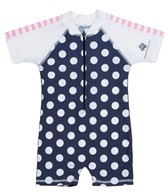 Snapper Rock Baby Girls' Navy Spots S/S Sunsuit (0-2yrs)