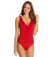 Jantzen Solid V-Neck One Piece