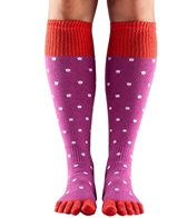 Toesox Knee High Scrunch Full-Toe Grip Socks