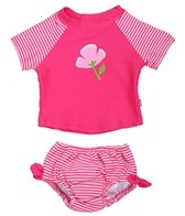 iPlay Girls' Tie Rash Guard 2PC Set (6mos-3T)