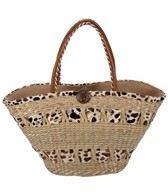 Sun N Sand Jungle Around Shoulder Straw Tote
