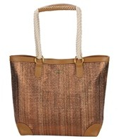 Sun N Sand Coastal Glimmer Metallic Shoulder Tote