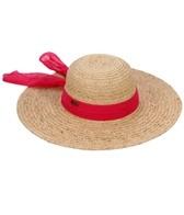 Sun N Sand Claribel Organic Raffia Chiffon Scarf Straw Hat