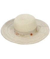 Sun N Sand Kai Beaded Trim Straw Hat