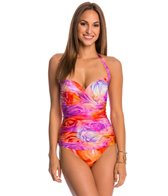 Gottex Clemence Molded Draped Bra Cup One Piece