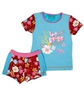 Jump N Splash Girls' Be Free S/S Rashguard Set w/FREE Goggles (4-12)