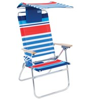 Rio Brands Hi-Boy Aluminum Beach Chair With Canopy And Pillow