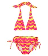 Billabong Billie Girls Ellie Triangle Bandeau Halter Set (4-14)